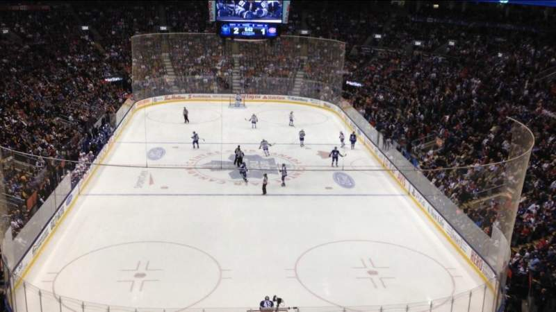 Seating view for Air Canada Centre Section 315 Row 2 Seat 14