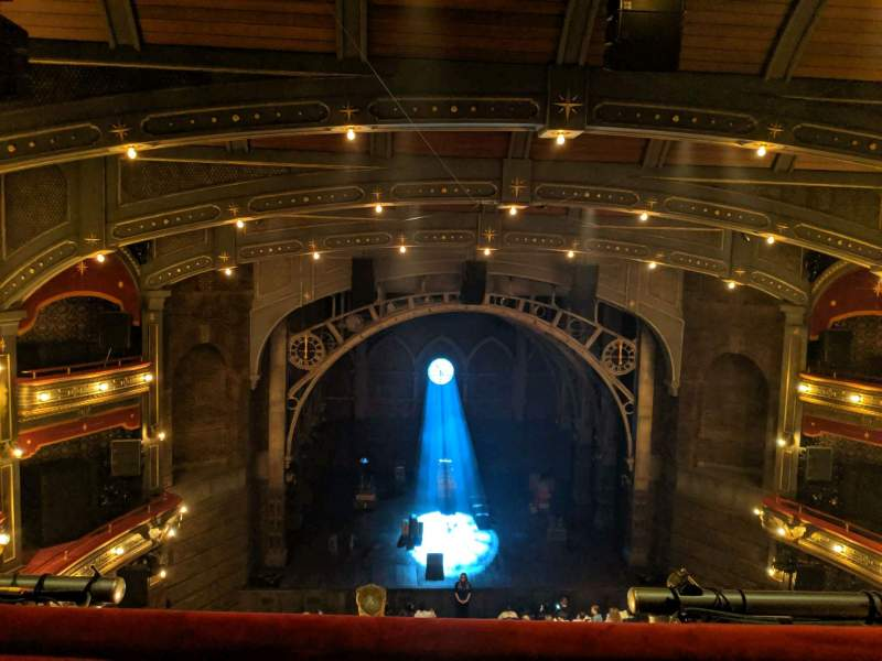Seating view for Lyric Theatre Section BALCC Row A Seat 105