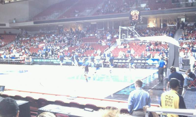 Seating view for Liacouras Center Section 111 Row F Seat 1