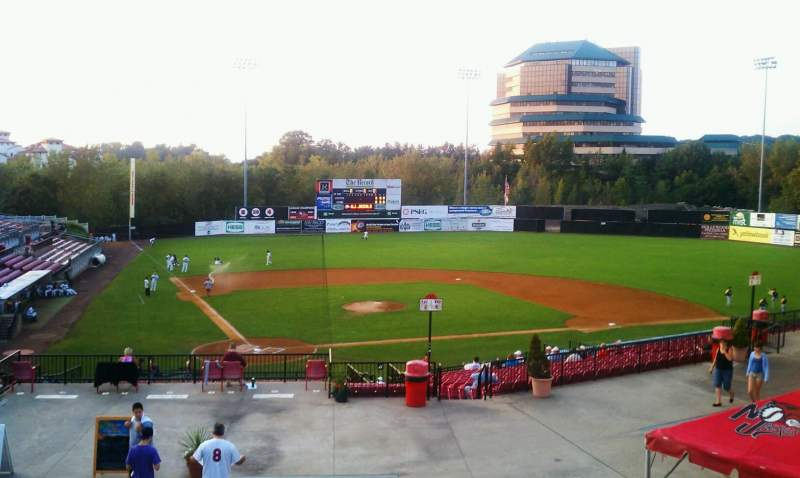 Seating view for Yogi Berra Stadium Section DD Row 3 Seat 1