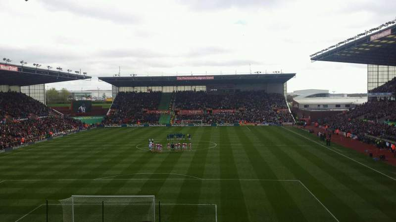 Seating view for Britannia Stadium Section 21 Row 30 Seat 300