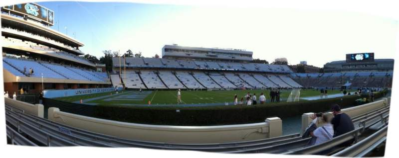 Seating view for Kenan Memorial Stadium Section 121 Row 7 Seat 9