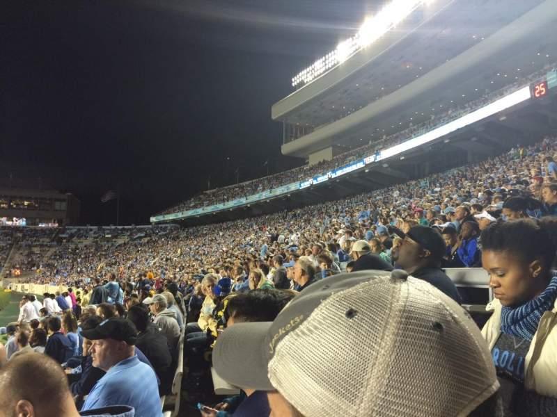 Seating view for Kenan Memorial Stadium Section 121 Row 7 Seat 9