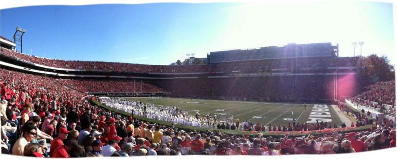 Seating view for Sanford Stadium Section 103 Row 19 Seat 3