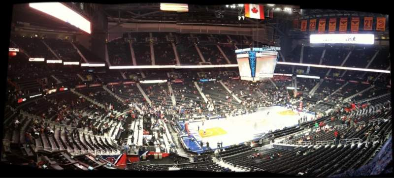 Seating view for Philips Arena Section B 108 Row 1 Seat 2