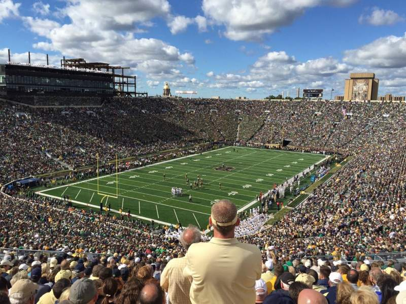 Seating view for Notre Dame Stadium Section 116 Row 25 Seat 2