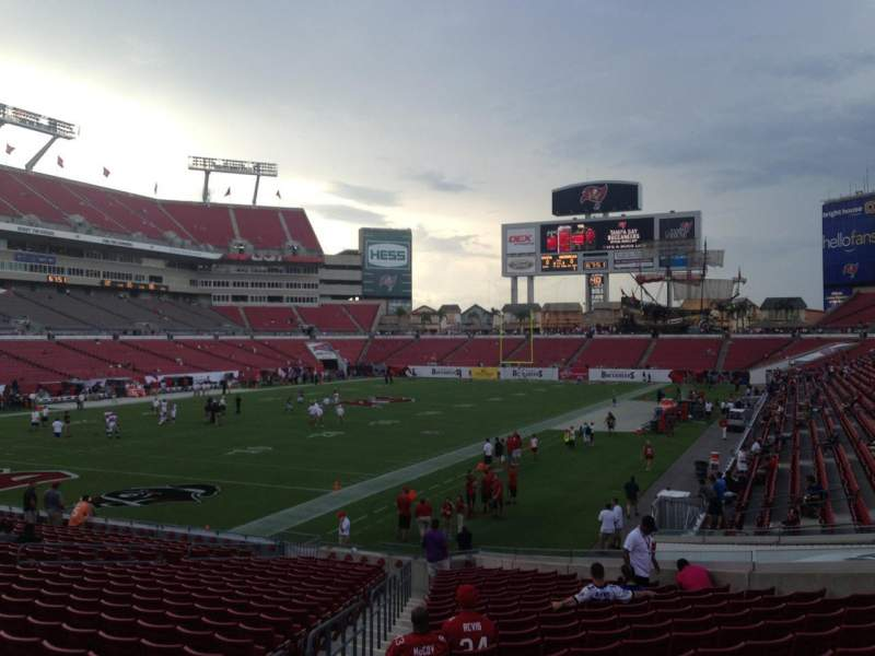 Seating view for Raymond James Stadium Section 127 Row Z Seat 5