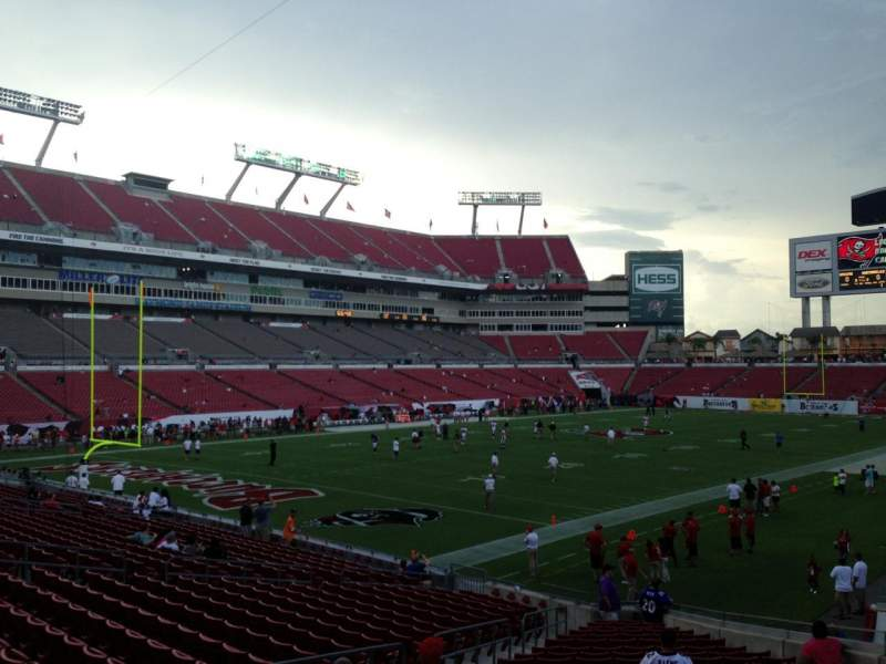 Seating view for Raymond James Stadium Section 127 Row Z Seat 10