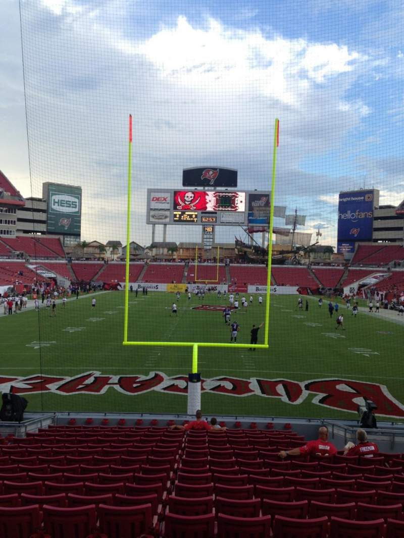 Seating view for Raymond James Stadium Section 123 Row U Seat 13