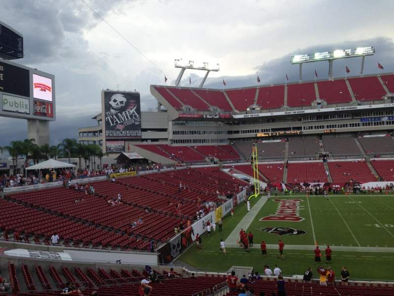 Seating view for Raymond James Stadium Section 232 Row C Seat 8