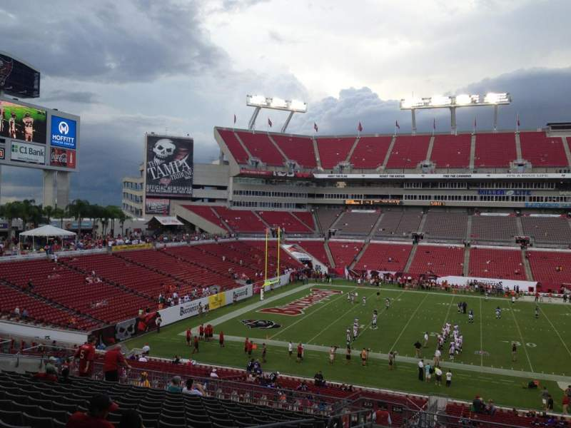 Seating view for Raymond James Stadium Section 234 Row T Seat 4
