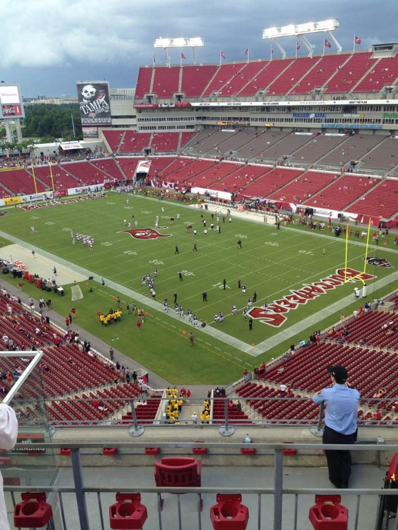 Seating view for Raymond James Stadium Section 344 Row C Seat 8