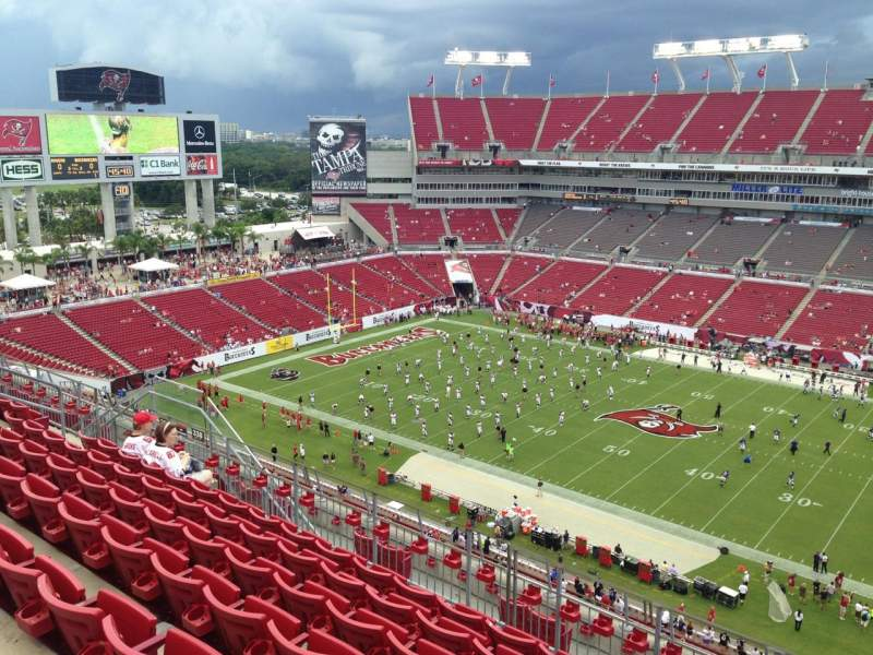 Seating view for Raymond James Stadium Section 338 Row G Seat 20
