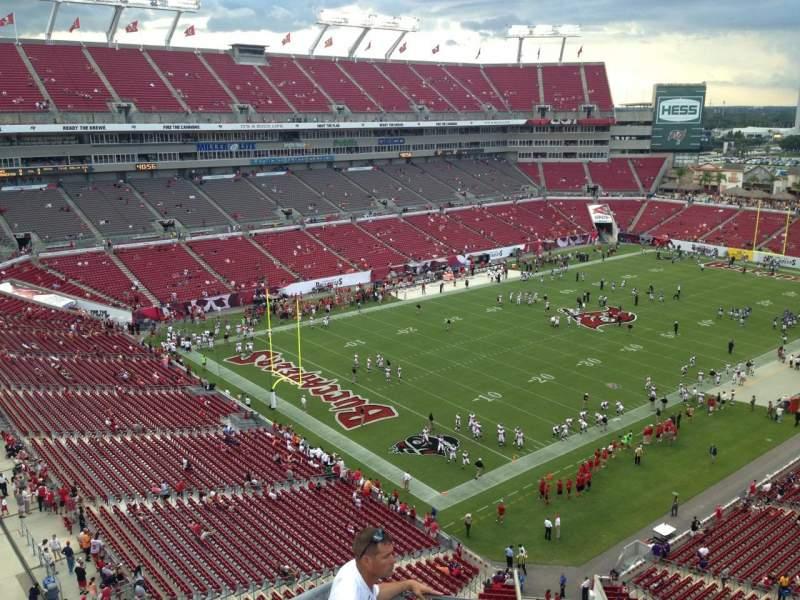 Seating view for Raymond James Stadium Section 327 Row A Seat 2