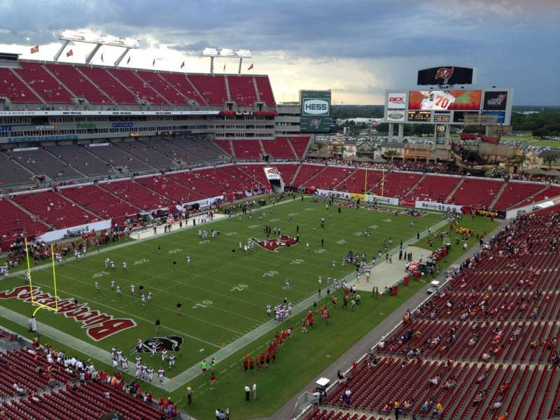 Seating view for Raymond James Stadium Section 327 Row A Seat 3