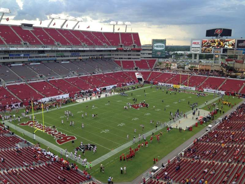 Seating view for Raymond James Stadium Section 327 Row A Seat 6
