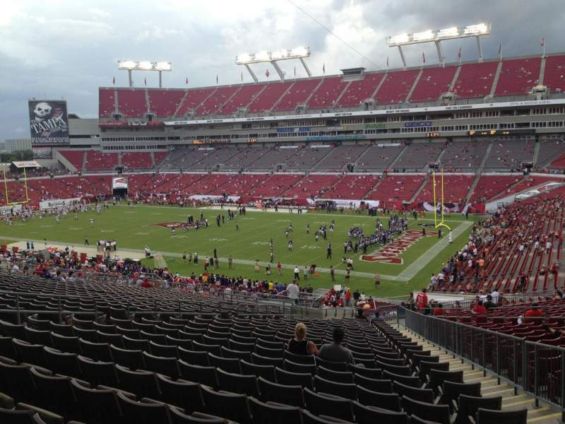 Seating view for Raymond James Stadium Section 241 Row CC Seat 15