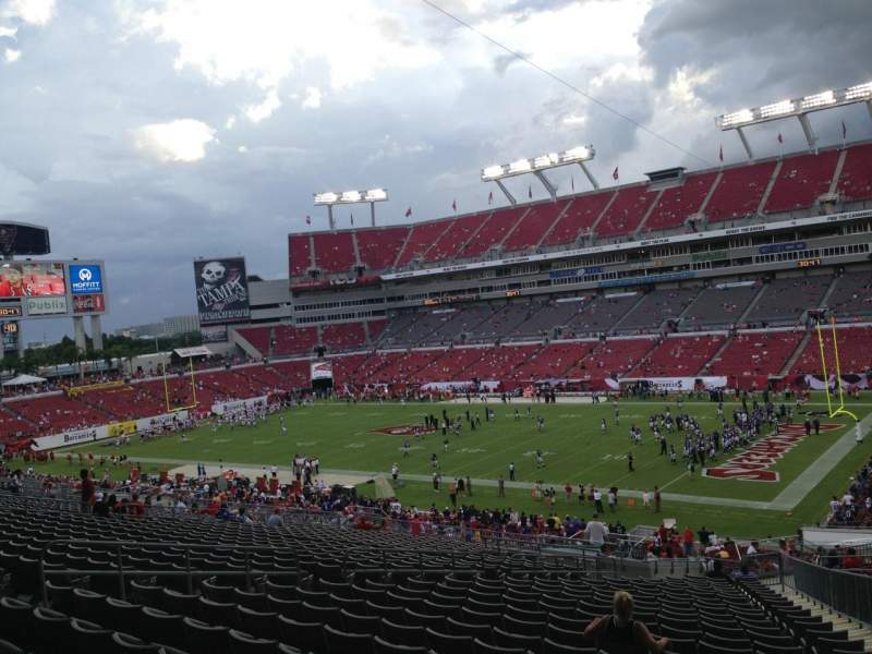 Seating view for Raymond James Stadium Section 241 Row CC Seat 14