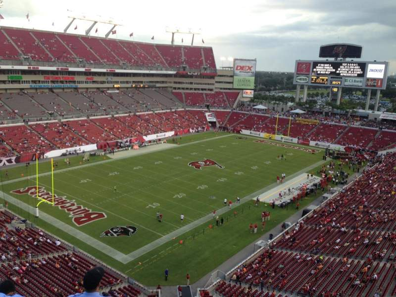 Seating view for Raymond James Stadium Section 302 Row A Seat 6