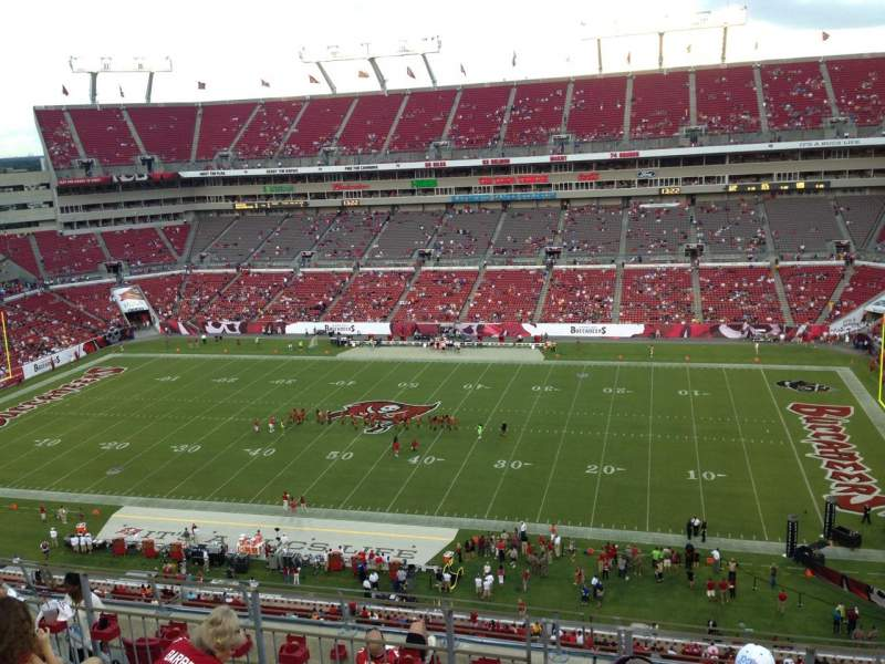 Raymond James Stadium, section: 313, row: E, seat: 14