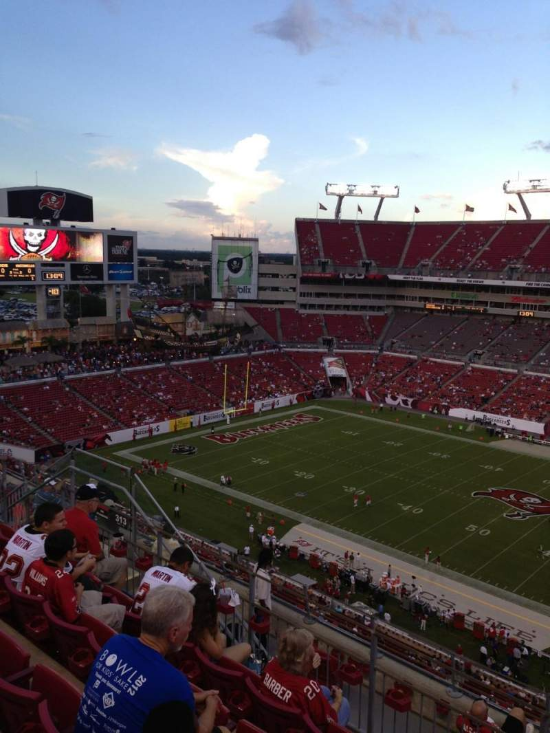 Seating view for Raymond James Stadium Section 313 Row E Seat 14