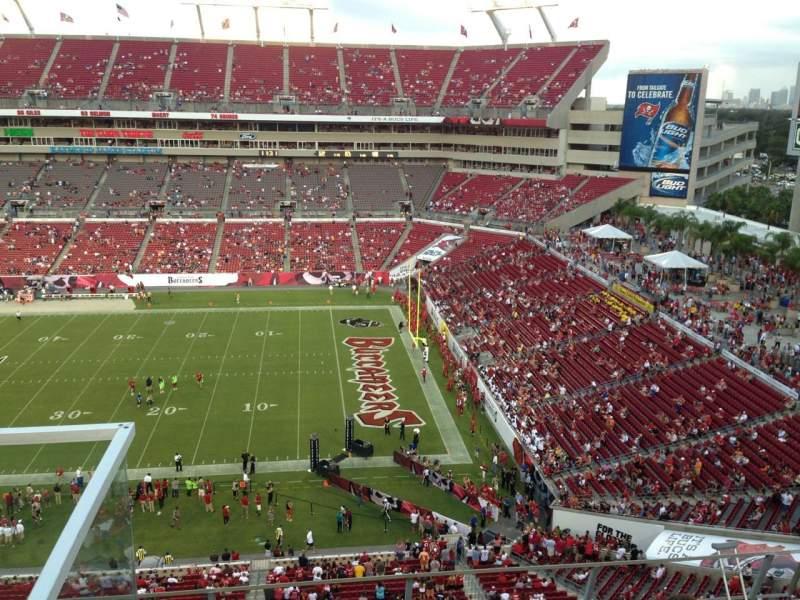 Raymond James Stadium, section: 314, row: A, seat: 6