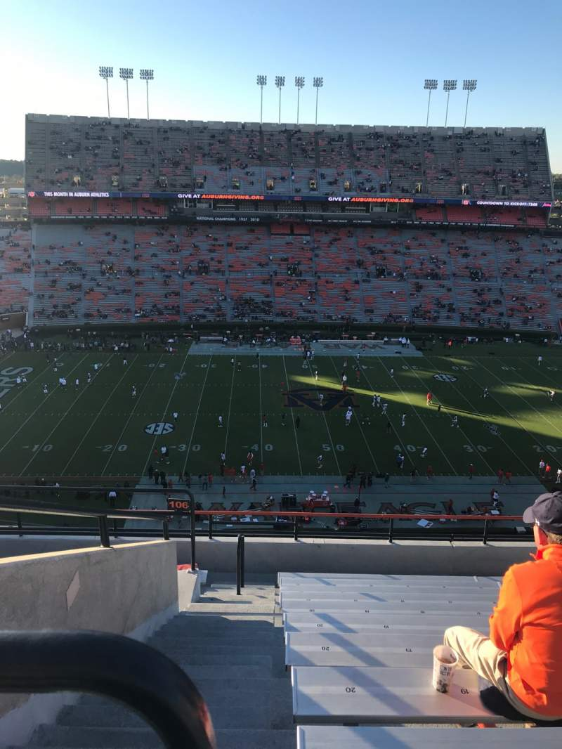 Seating view for Jordan-Hare Stadium Section 106 Row 11 Seat 22