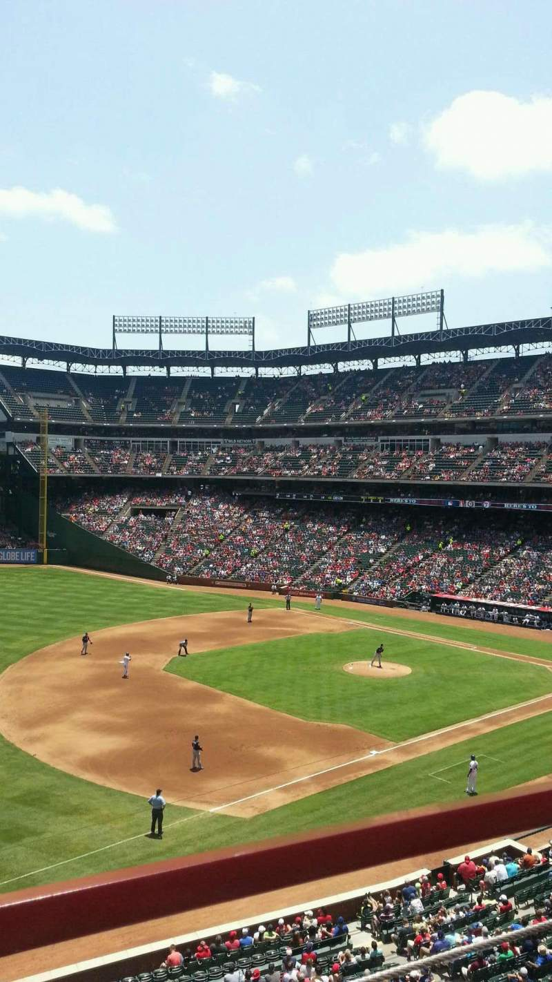 Seating view for Globe Life Park In Arlington Section 215 Row 1 Seat 9