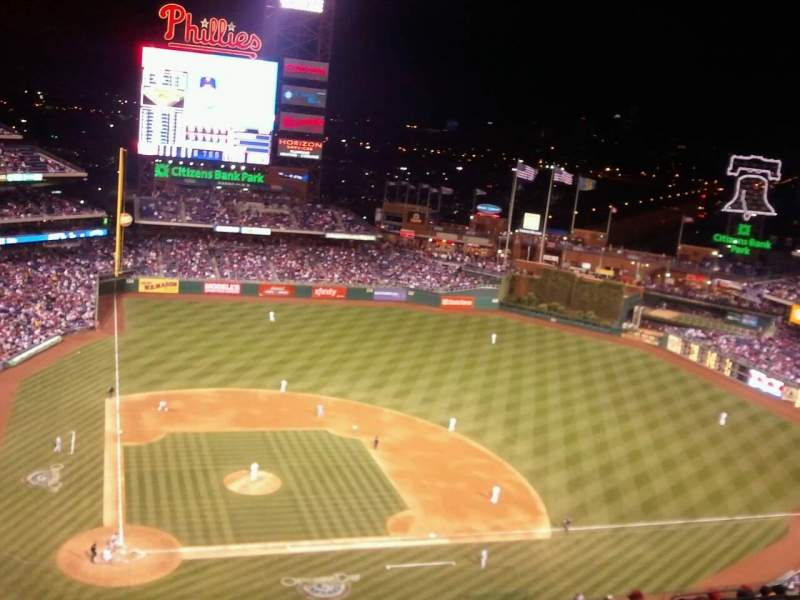 Seating view for Citizens Bank Park Section 417 Row 15 Seat 13