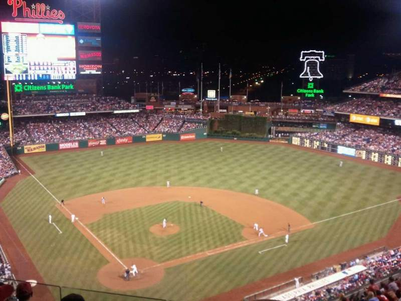 Seating view for Citizens Bank Park Section 419 Row 6 Seat 9
