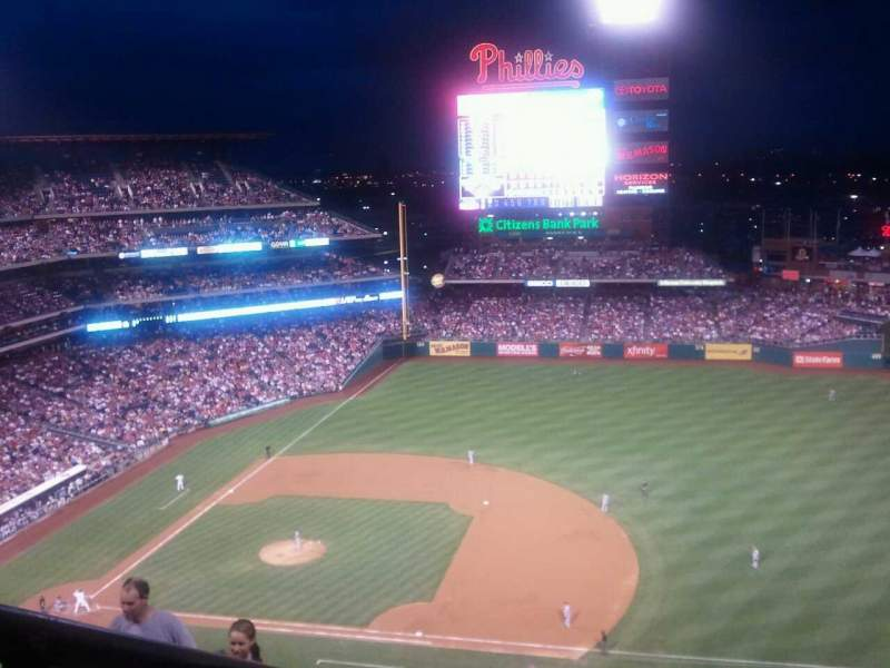 Seating view for Citizens Bank Park Section 413V Row 9 Seat B