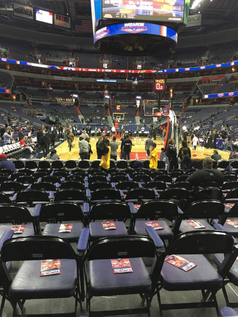 Seating view for Capital One Arena Section 116 Row A Seat 1