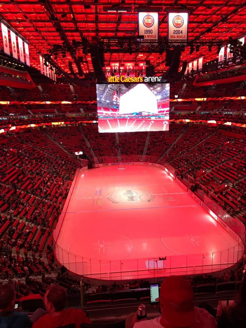Little Caesars Arena, section: M3, row: 4, seat: 11
