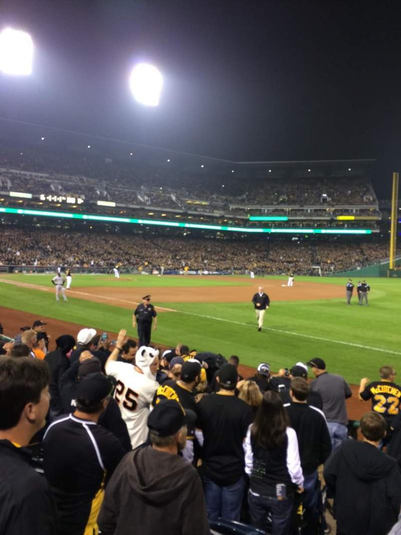 Seating view for Pnc Park Section 4 Row G Seat 12