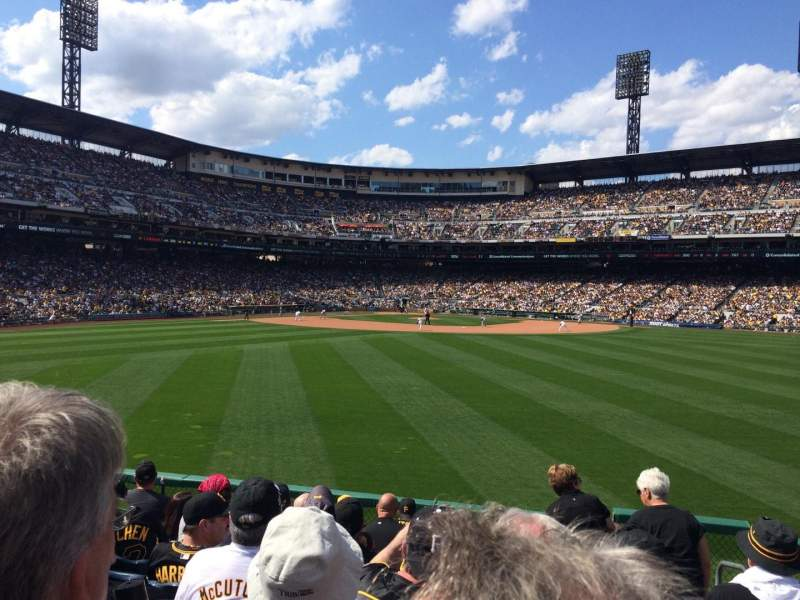 Seating view for PNC Park Section 140 Row J Seat 1