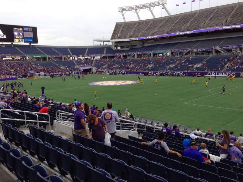 Seating view for Camping World Stadium Section 103 Row T Seat 19