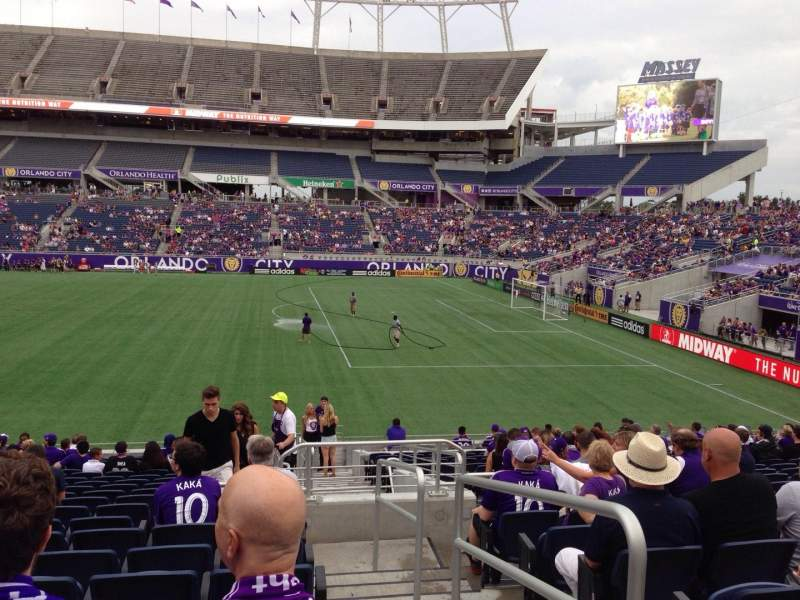 Seating view for Camping World Stadium Section 106 Row W Seat 1