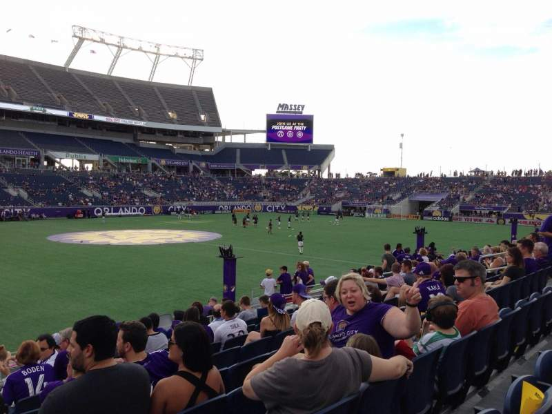 Seating view for Camping World Stadium Section 110 Row M Seat 22