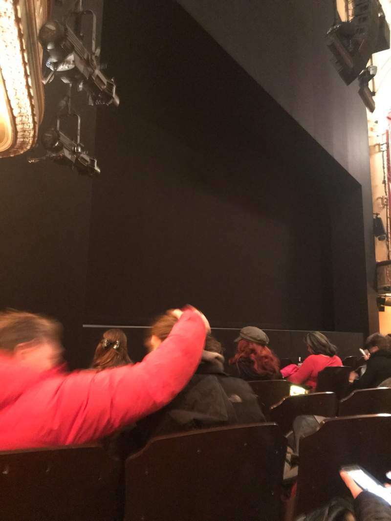 Seating view for Bernard B. Jacobs Theatre Section Orchestra L Row F Seat 13