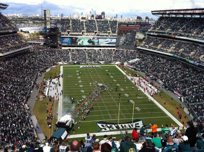 Seating view for Lincoln Financial Field Section 210 Row 21 Seat 14