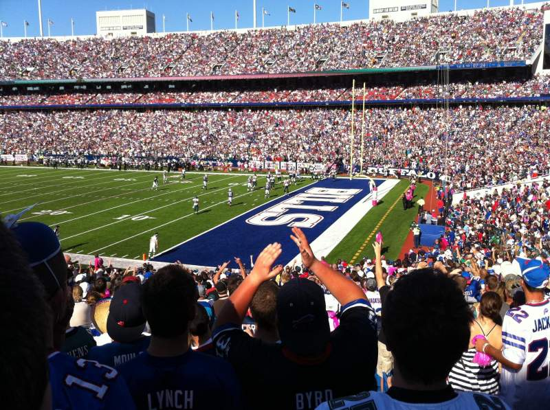 Seating view for Buffalo Bills Stadium Section 129 Row 33 Seat 1