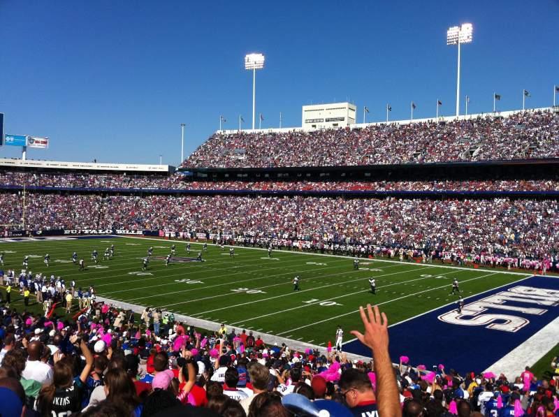 New Era Field, section: 129, row: 33, seat: 1