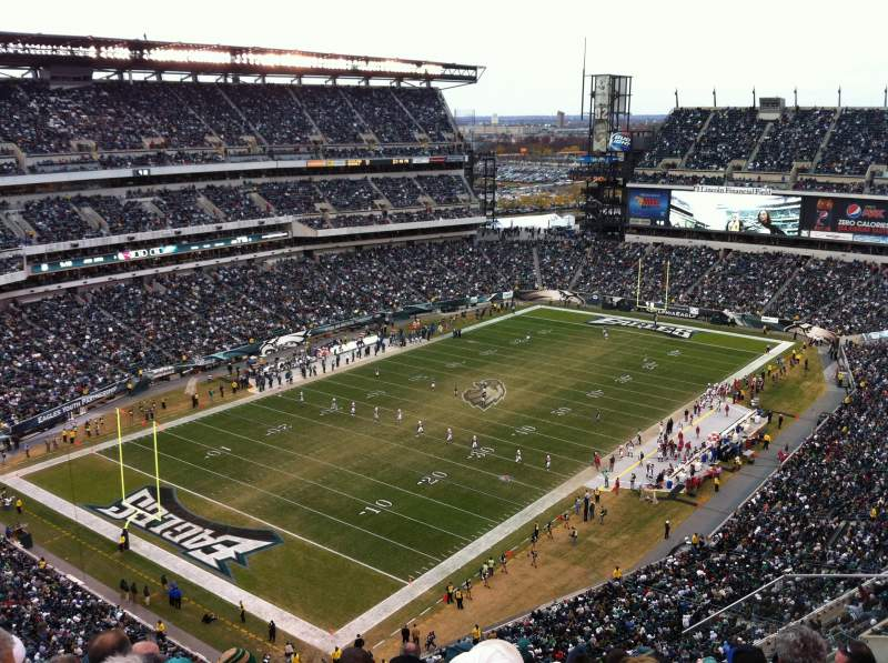 Seating view for Lincoln Financial Field Section 218 Row 13 Seat 6