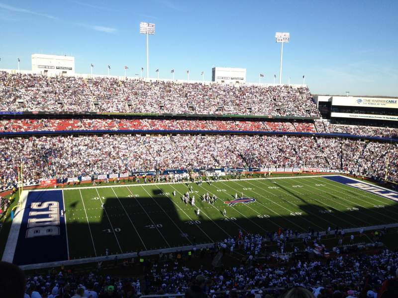Seating view for Buffalo Bills Stadium Section 337 Row 23 Seat 1