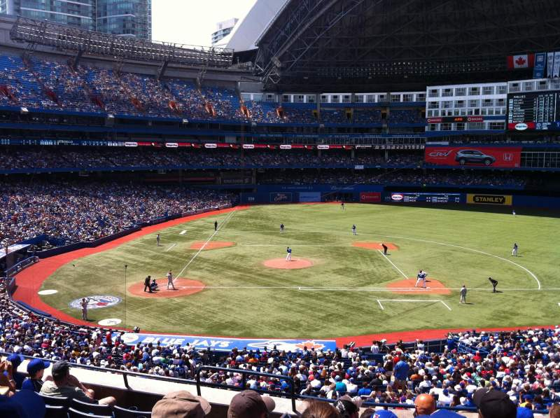 Seating view for Rogers Centre Section 220R Row 8 Seat 3