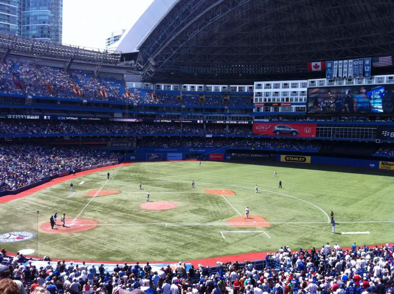 Seating view for Rogers Centre Section 220R Row 8 Seat 2