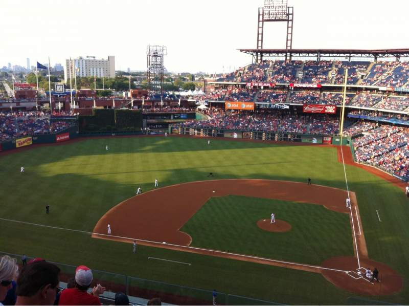 Seating view for Citizens Bank Park Section 325 Row 6 Seat 1