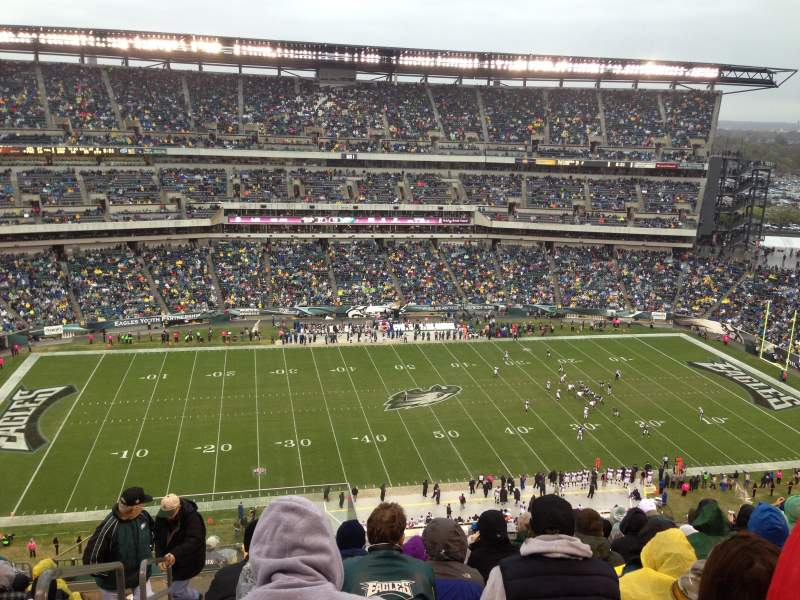 Seating view for Lincoln Financial Field Section 224 Row 15 Seat 26