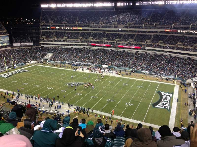 Seating view for Lincoln Financial Field Section 205 Row 15 Seat 19