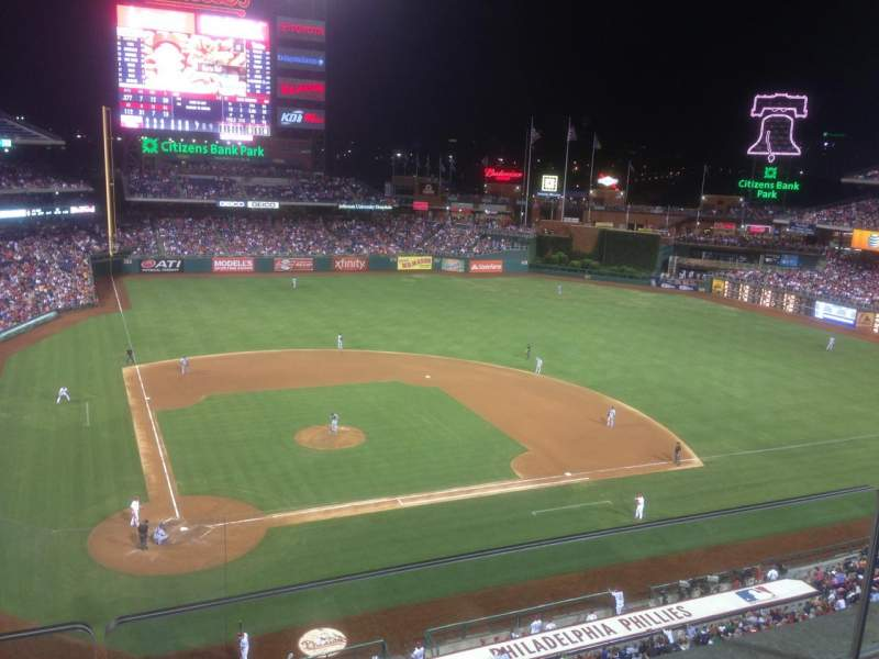 Seating view for Citizens Bank Park Section 317 Row 2 Seat 18